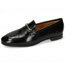 Loafers Scarlett 22 Soft Patent Black Trim Gold