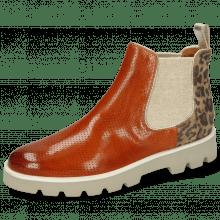 Ankle boots Selina 37 Pavia Perfo Arancio Suede Leo Beige