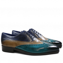 Oxford shoes Lewis 4 Turquoise Smog Navy