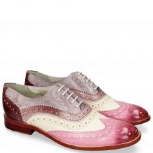 Derby shoes Amelie 10 Vegas Lilac White Light Purple Pale Lila
