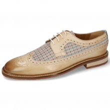 Derby shoes Logan 6 White Suede Mady Nougat Moroccan Blue