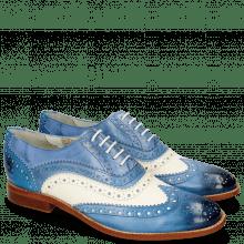Oxford shoes Amelie 10 Vegas Neptune Blue White Moroccan Blue