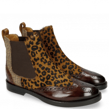 Ankle boots Selina 29 Mid Brown Hairon Leo Cappu Textile