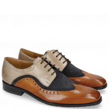 Derby shoes Rico 27 Rio Tan Suede Pattini Perfo Navy Oxygen