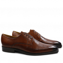 Derby shoes Martin 1 Venice Guana Wood Toe Electric Blue