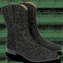 Boots Marlin 31 Leo Glitter Black Binding Nappa Black