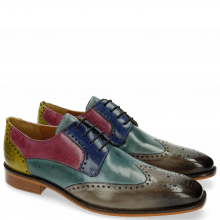 Derby shoes Jeff 14 Tan Cedro Arancio Bluette Rose