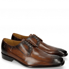 Derby shoes Albert 1 Wood Rivets Lines Dark Brown
