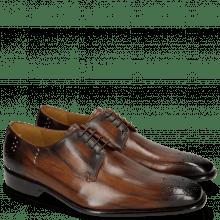 Derby shoes Albert 1 Wood Rivets Lines Dark Brown