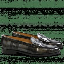 Loafers Mia 1 Brush Check Gunmetal LS