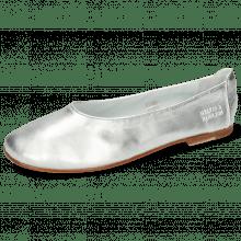 Ballet Pumps Iris 9  Nappa Silver Flex