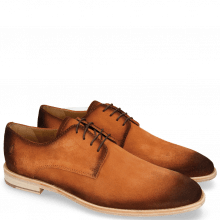 Derby shoes Ryan 3 Suede Pattini Orange Shade Mogano