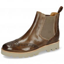 Ankle boots Selina 6 Chestnut Elastic Ribbed Beige