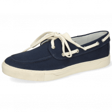 Boat shoes Adrian 8 Canvas Navy Vegas White