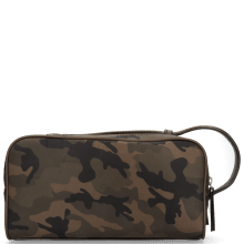 Toiletry bags Palermo Textile Camo Khaki Milled Brown