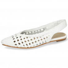 Ballet Pumps Alexa 13 Open Woven White