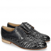Derby shoes Sally 37 Woven Nappier Perfo Navy