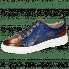 Sneakers Harvey 12 Tan Electric Blue Shade Lasercut Leopard
