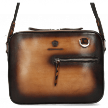 Handbags Quebec Vegas Tan Shade Dark Brown Hairon