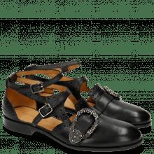 Sandals Sally 69 Black Buckle Phyton