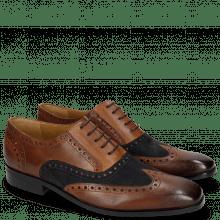 Oxford shoes Rico 15 Rio Mid Brown Suede Pattini Navy