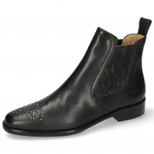 Ankle boots Anna 6 Venice Black Toe Rivets Flower