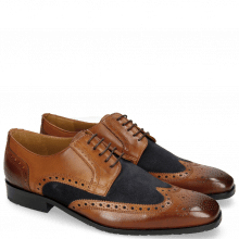 Derby shoes Rico 16 Rio Wood Suede Pattini Navy