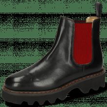 Ankle boots Megan 3R Black Elastic Red