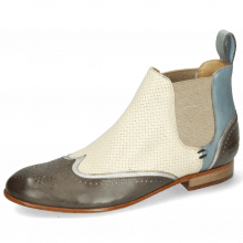 Ankle boots Sally 19 Imola Smoke Talca Steel Perfo White Sky Blue