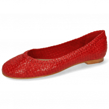 Ballet Pumps Kate 5 Woven Red LS