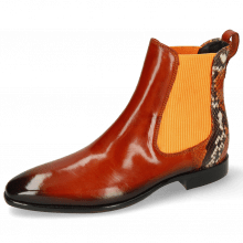 Ankle boots Emma 8 Orange Shade Dark Brown Snake
