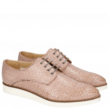 Derby shoes Jessy 5 Woven Galviston Light Rose Malden White