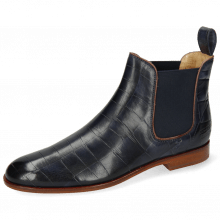 Ankle boots Susan 10 Vegas Turtle Navy Binding Wine