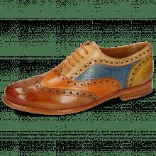 Oxford shoes Selina 30 Tan Arancio Sand Perfo Wind