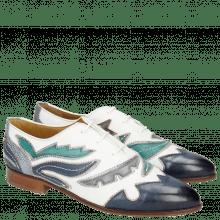 Oxford shoes Jessy 43 Rio White Marine Onda Glicine Frame