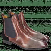 Ankle boots Emma 8 Plum Velluto Dark Pink
