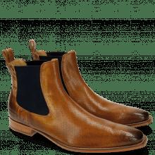 Ankle boots Oswald 5 Perfo Folk Laser Cut Tan