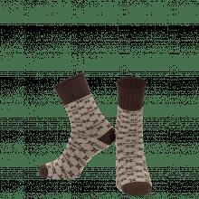 Socks Charlie 1 Crew Socks Beige Brown