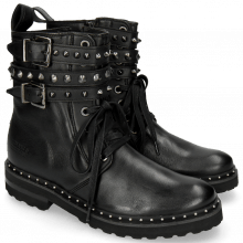 Ankle boots Bonnie 3 Nappa Black Bubbles Rivets