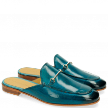 Mules Scarlett 4 Ice Blue Trim Gold