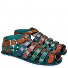 Sandals Sam 3 Classic Dark Brown Orange Ice Blue Electric Green Lilac Electric Blue Tan Modica White