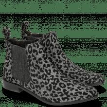 Ankle boots Marlin 4 Leo Glitter Gunmetal Elastic Glitter Black Lining Black