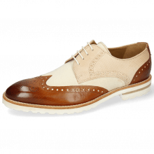 Derby shoes Kane 2 Tan Dice Beige Canvas White