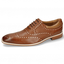 Oxford shoes Clark 35 Venice Pavia Nappa Tan Nappa Patent White
