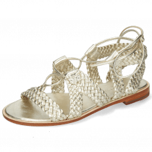 Sandals Sandra 11 Woven Nappa Platin Footbed