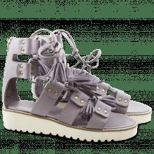 Sandals Celia 20 Nubuk Planet Dagget White