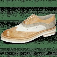 Oxford shoes Amelie 10 Imola Sand White Oxygen