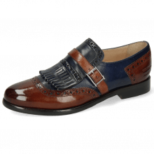 Monks Selina 2 Classic Brown Navy Strap