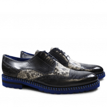 Derby shoes Henry 13 Snake Crock London Fog Black White London Fog Aspen Blue