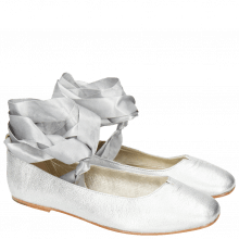 Ballet Pumps Melly 4 Talca Silver Ribbon